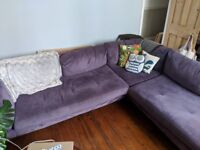 Large corner sofa 8 seater v. Comfy couch