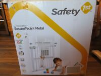 Safety Gate white metal - New