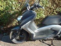 Yamaha Xmax exhaust ,engine ,clutch ,tyre ,wheel ,fork ,speedo ,wiring ,seat ,light ,panel