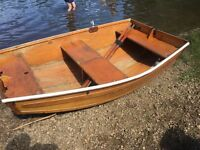 Seahopper fold away boat and outboard motor