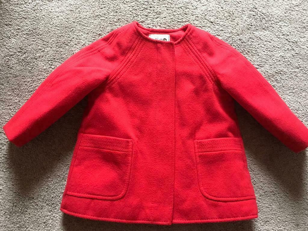 542bd2c2a Next baby girl coat age 12-18 used v