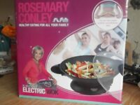 Rosemary Conley 5lt non stick electric wok new in box can be used on table