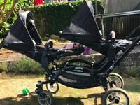 Obaby ABC design zoom tandem double pushchair / buggy / pram.