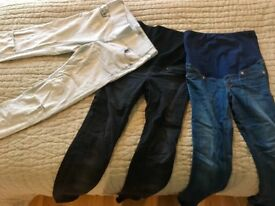 Maternity Jeans - Topshop and H&M - 3 Pairs