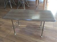 Formica coffee table with magazine rack