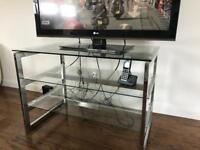 Glass and Chrome TV Unit