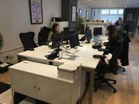 6 x desks in semi-private office available in Covent Garden!