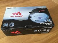 Sony Walkman, car ready portable CD Player with accessories. Boxed, opened, as new