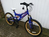 Child's Dual Suspension 5speed Mountain Bike suitable 5 to 9 years