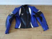 Frank Thomas leather motorbike jacket size UK 14 - EUR 40