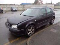 VW GOLF MK4 BLACK - BREAKING - DOOR? BUMPER? WING? TAILGATE? DRIVESHAFT? LOCKSET? CALIPER? AXLE?