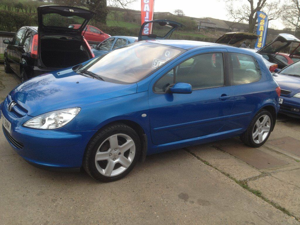 swainsthorpe motor co 2003 peugeot 307 2 0 cc rapier 16v 3 door blue full mot in norwich. Black Bedroom Furniture Sets. Home Design Ideas