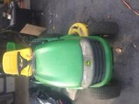 John Deere lawn tractor and attachments