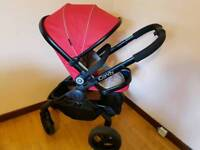 Icandy peach sherbet3 full travel system pram/pushchair