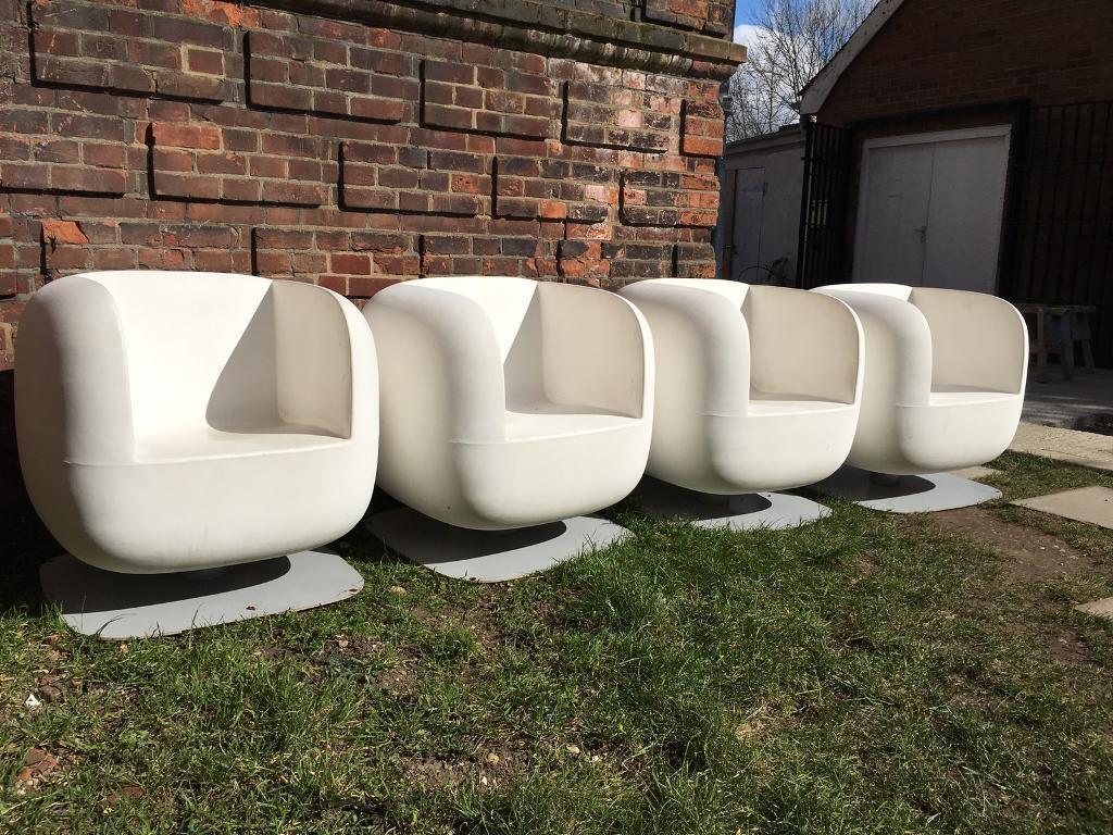 italian designer luxy big jim outdoor garden chairs set of 4 retro