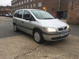 VAUXHALL ZAFIRA 1.6 LIFE 2005 IN EXCELLENT CONDITION 7 SEATER