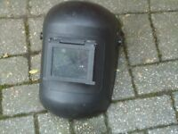 WELDING MASK PULL DOWN FOR MIG WELDER ARC / IN VERY GOOD CONDITION BARGAIN PRICE