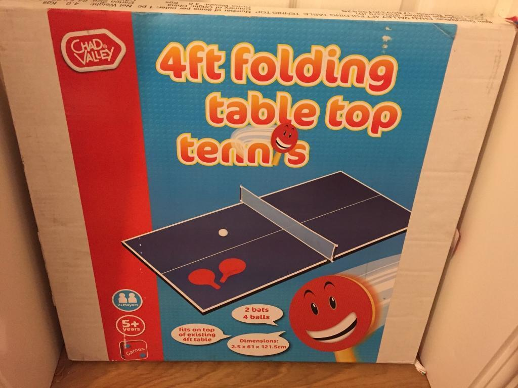 Chad Valley 4ft folding table top tennis - New