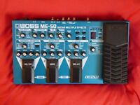 Boss ME-50 multi effects pedal + power supply
