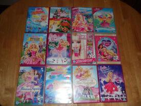 Barbie Various DVDs x 12