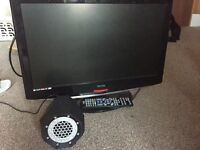 """Tv 22"""" with control, speacker and hdmi adaptor"""