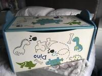 Children's wooden toy box