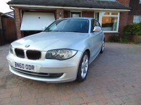 2010 BMW 1 series 116i Sport 3 door Silver