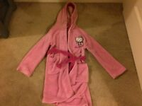 Hello Kitty Dressing Gown with Hood Aged 4-6yrs; 110-116cms