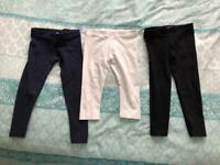 3 pairs of girls leggings age 3-4 Years