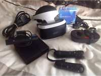 Playstation PS4 VR Headset and Games and extras.