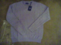 Men's Grey Crew Neck Gant Jumper Brand New With Tags