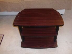 TV Unit / Corner Stand - mahogany effect, very sturdy