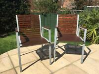 Designer garden chairs, lovingly renovated to better than new.