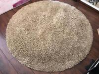 Barker and Stonehouse - Deep Pile Beige 100% Wool Round Rug