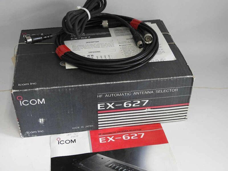 SCARCE ORIGINAL BOX ICOM EX-627 HF AUTOMATIC ANTENNA SELECTOR, CABLES, MANUAL