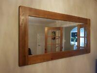 Oak Furniture Rustic Oak Extendable Dining Table, Mirror, TV Stand and Lamp Table Oak Furnitureland