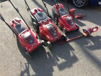 Mountfield battery mowers