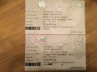2 Jack Savoretti Tickets Nottingham 11/11/16