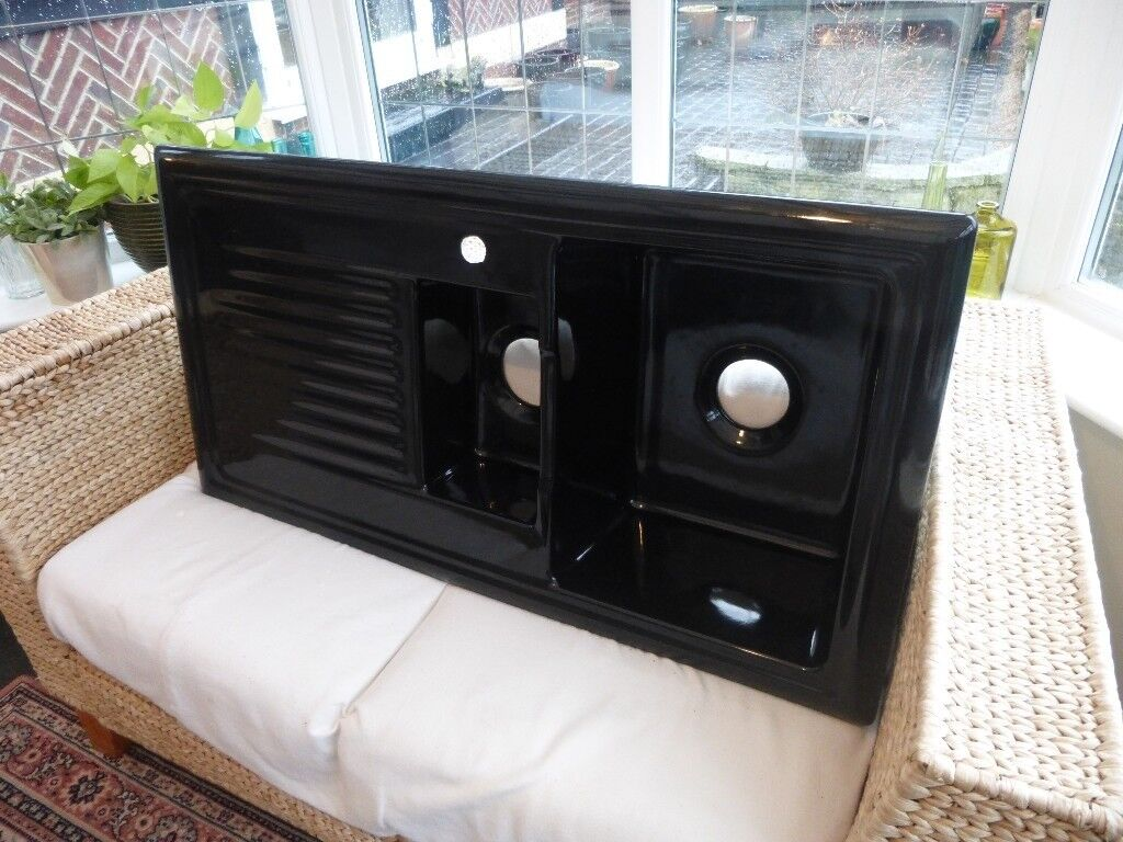 Reginox 1.5 Bowl Black Ceramic Kitchen Sink LHD   in Chester Le ...