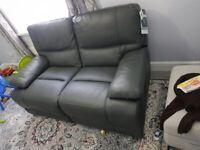 New Harveys 2 seater leather sofa + 1 arm chair + 1 arm chair