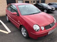 2003 VW POLO 1 YEARS MOT RELIABLE CAR LOW MILEAGE PX WELCOME £895