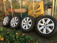 4 VW winter alloy wheel and tyres for sale