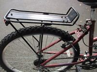 Cycle luggage rack, carrier suitable for mountain bike, town bike, racer, or hybrid.