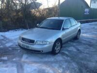 99/V AUDI A4 1.8T SPORT 4DR PART EX TO CLEAR SPARES OR REPAIRS £299 ONO