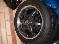 Alloy Wheels 15 inch black - set of 4 - AS NEW