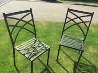 Four Metal Garden Chairs