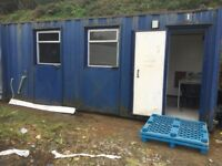 Anti vandal site office in vgc fully loaded,furniture,sink,hot water,hand washing equipment,etc etc