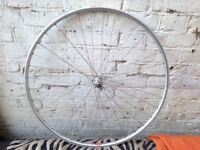 700c front Wheel (16 - 622) - Alloy, Strong and sturdy, running true. Bargain.