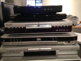 Joblot 5 DVD Players Recorders TV Car Boot Sony JVC ALBA