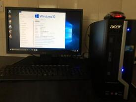 ACER DESKTOP WITH 20inch ACER SCREEN